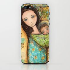 Mother by Flor Larios iPhone & iPod Skin by Flor Larios Art - $15.00