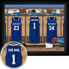 16X20 PERSONALIZED Kentucky Wildcats Locker by GetYourNameInAFrame, $34.95