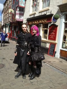 Gothic Couple along Church Street