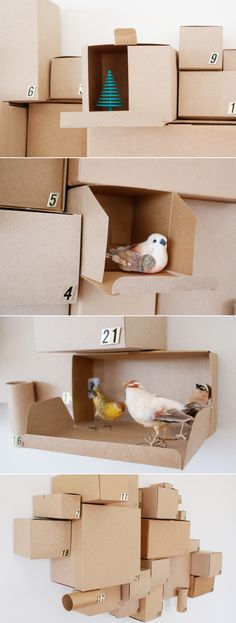 The Recycled Cardboard Box Calendar   33 Clever And Adorable DIY Advent Calendars