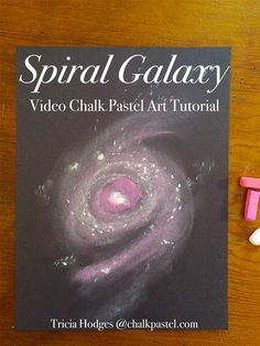 A video spiral galaxy chalk art tutorial for all ages. Space art with just black construction paper and chalk pastels - because you ARE an artist!