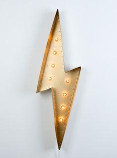 SoandSo Designs Lightning Bolt Marquee Light