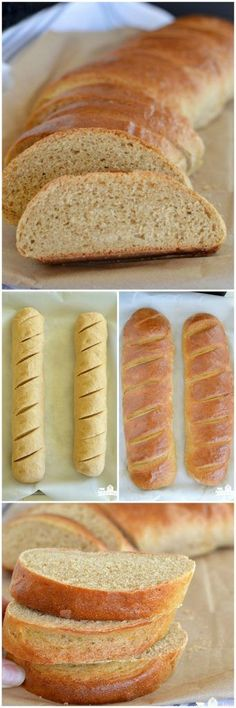 Whole Wheat French Bread is a super soft, no knead bread that's just right for eating by itself or serving with dinner!