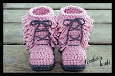 Crochet Pattern for Boys or Girls Baby Booties with Fringes . Pattern number 006. Instant Download