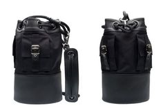 """The five-bag capsule picks up on the Bow bag first shown at the Haute Couture show but adds a more """"masculine slant. Navy Blue Color, Travel Bags, Passport, Wallets, Backpacks, Fur, Travel Handbags, Travel Tote, Purses"""