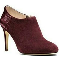 Merlot Michael Kors booties Brand new never worn size 8 Michael Kors booties in Merlot. Sammy ankle boot style, gold zippers suede front with leather designed heel. MICHAEL Michael Kors Shoes Ankle Boots & Booties