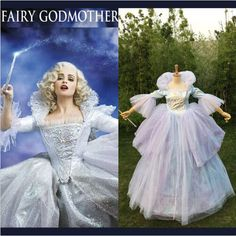 Movie Cinderella Pricess Adult Fairy Godmother Halloween Cosplay Costume Dress #Unbranded #Dress