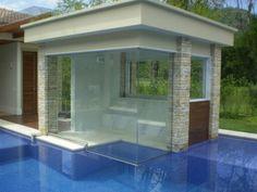 Sauna Com vidro integrado à piscina Pool Spa, Swimming Pools Backyard, Saunas, Jacuzzi, Piscina Interior, Backyard Pool Designs, Steam Room, Outdoor Living, Outdoor Decor