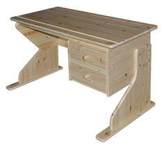 Парта из массива сосны Рио Д 4134 | Письменные столы | Интернет-магазин мебели