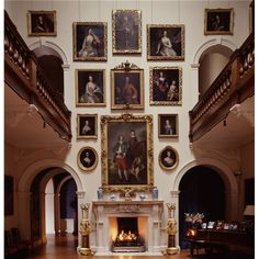 portraits hung in the saloon at Althorp