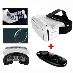 VR SHINECON Moke Plastic Version VR 3D Glasses Google Cardboard Glasses With Bluetooth Wireless Mouse Gamepad Sale - Banggood.com