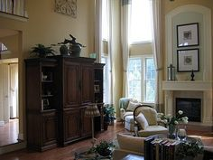 family room decorating ideas with fireplace | Hey, doesn't that look like my wall unit in my great room?? Look at ...