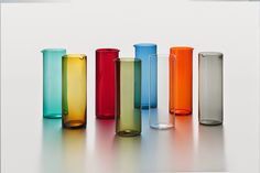 KAJ FRANCK - Pitchers designed in 1954, Finland. Glass Design, Design Art, Graphic Design, Semi Transparent, Midcentury Modern, Scandinavian Design, Industrial Design, Finland, Modern Contemporary