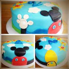 Mickey Mouse Clubhouse fondant 12 in round cake.