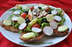 Sapori in concerto: Caesar salade con sgombri piccanti