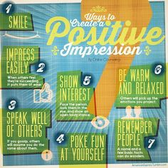 """7 Ways to Create a Positive Impression"""