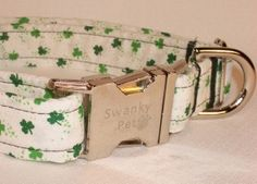 'Kiss Me, I'm Irish' St Patrick's Day Dog Collar by Swanky Pet