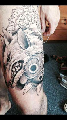 Princess Mononoke tattoo Credits to: Adam Barbati