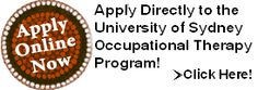 Learn how to apply to the University of Sydney Occupational Therapy School - Master of Occupational Therapy