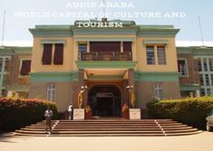 Genet Leul Palace in Addis Ababa a symbol of Ethiopian history. Part of World Capital of Culture and tourism legacy. Capital Of Ethiopia, Mystical World, New Jerusalem, Church Of Our Lady, Addis Ababa, Religious Architecture, Grand Mosque, Place Of Worship, Present Day
