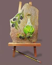 Αποτέλεσμα εικόνας για ελιες ζωγραφικη