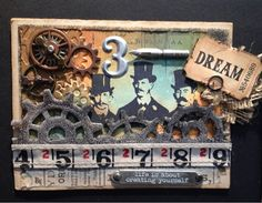 Wandering Star: CHA Winter 2013 - Tim Holtz card - Ranger / Idealology / Sizzix Alterations / Stampers Anonymous