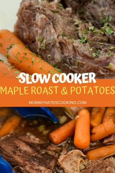 Make this amazing sweet and savory Ninja Foodi Maple Roast using the Slow Cooker function of the Ninja Foodi! Make this amazing sweet and savory Ninja Foodi Maple Roast using the Slow Cooker function of the Ninja Foodi! Ninja Recipes, Gluten Free Recipes, Roast Recipes, Slow Cooker Recipes, Crockpot Recipes, Freezer Recipes, Gluten Free Lasagna, Free Meal Plans, Easy Dinner Recipes