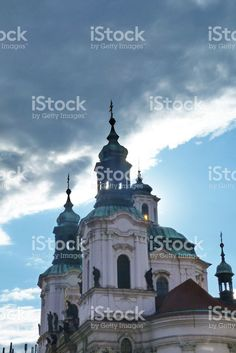 Church of St Nicholas of Old Town in Prague royalty-free stock photo