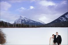 Iconic Banff Wedding photo by www.juliewilliamsphotography.ca
