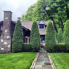Shaped hedges around kitchen patio and walk to deck Backyard, Patio, Plant Sale, Large Homes, Hedges, Lawn And Garden, Curb Appeal, Planters, Landscape Architects