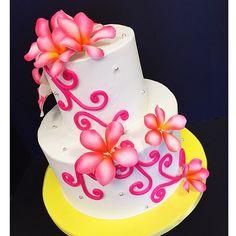 Plumeria Sugarflower cake