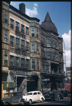"""""""Old Capone GHQ,"""" 2220 S. Dearborn Avenue, Chicago, 1944. Photograph by Charles Cushman."""