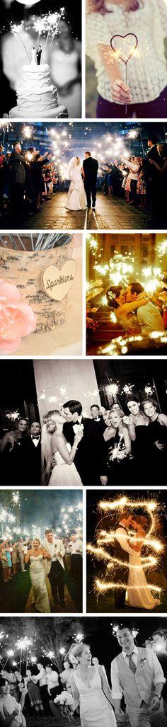 wedding sparklers ideas!