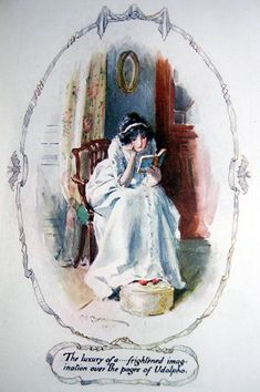 """Brock, C.E. - """"The luxury of a ... frightened imagination over the pages of Udolpho"""""""