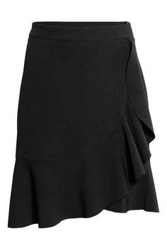 Flounced skirt - Black