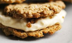 Nigel Slater oat cookies with lemon mascapone Oat Cookies, Lemon Cookies, Banana Cheesecake, Cheesecake Recipes, Mascapone Recipes, Just Desserts, Delicious Desserts, Nigel Slater, Baked Alaska