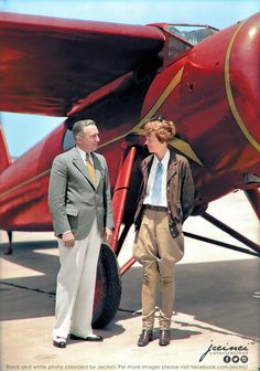 New post jecinci images albums gallery profile favorites messages settings sign out Next Post Amelia Earhart (and an unknown man) standing in front of her single-prop plane in Burbank. California - 1932 - colorized
