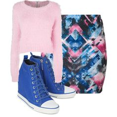 A fashion look from December 2014 featuring even&odd mini skirts and DKNY sneakers. Browse and shop related looks.
