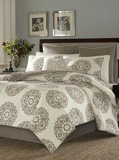 Amazon.com: Stone Cottage Medallion Cotton Sateen 4-Piece Comforter Set, King: Home & Kitchen