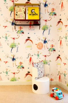 Kids room - Wallpaper - Home of Pierre Frey - Via The Socialite Family