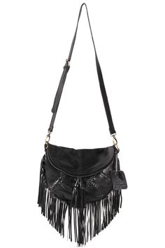 GYPSY SOUL. Black leather bag / black leather purse / by BaliELF