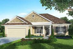 Eplans House Plan: A private master suite envelops one side of this well-designed, open layout from the Energy Saver Plus Home Plans Collection. Guest bedrooms share a large bathroom on the opposite side. Home Focus, Energy Saver, Country Style House Plans, Architectural Features, Home Design, Durham, Great Rooms, Architecture Design, New Homes