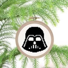Darth Vader Helmet Ornament PDF Cross Stitch Pattern