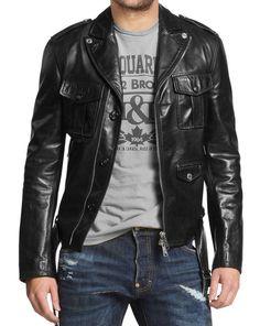 New York Leather Leather Bomber Mens Slim Fit Lambskin Biker Motorcycle Jacket