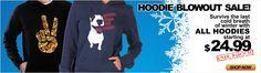 All hoodies from $24.99 on Idakoos.com until March 11