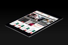 GoNutrition Ecommerce website on tablet.