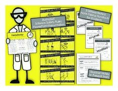 Science Safety Powerpoint with Differentiated student handouts and guided teacher notes. Great resource for getting students started in the lab!   Headway