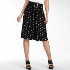 Black/white polka dot skirt