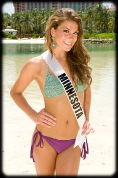 Miss Minnesota Teen USA 2011, Hannah Corbett, poses for a photo in her Kooey swimwear at Atlantis on Paradise Island, Bahamas on Thursday, July 14, 2011 bikini #KyFun