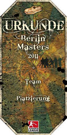 Urkunde 1. Berlin Masters 2011